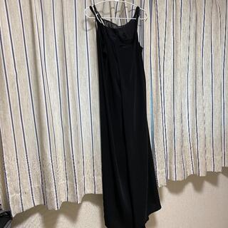 マルタンマルジェラ(Maison Martin Margiela)のMM6 メゾンマルジェラ ロングドレス 黒 XS-S(ロングワンピース/マキシワンピース)