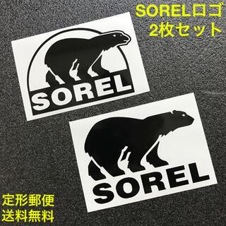 SOREL - 黒 2枚セット SOREL ソレル ベアーロゴ カッティングステッカー A