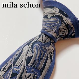 ミラショーン(mila schon)の極美品 ミラ ショーン ネクタイ ハイブランド 総柄 ビジネス(ネクタイ)