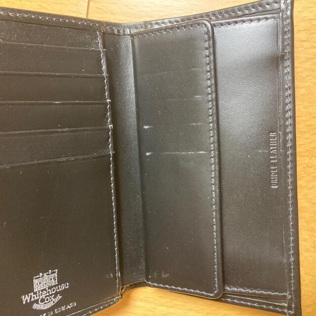 WHITEHOUSE COX(ホワイトハウスコックス)のホワイトハウスコックス 三つ折り財布 7660 ブラック メンズのファッション小物(折り財布)の商品写真