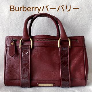 バーバリー(BURBERRY)のBurberry バーバリー ボルドー ハンドバッグ(ハンドバッグ)