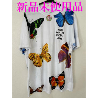 アンチ(ANTI)のAntisocialsocialclub Butterfly Tシャツ 新品 L(Tシャツ/カットソー(半袖/袖なし))