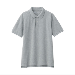 ムジルシリョウヒン(MUJI (無印良品))のポロシャツ 半袖 無印良品 グレー(ポロシャツ)