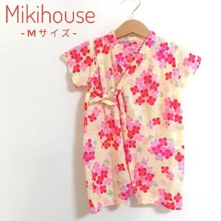 ミキハウス(mikihouse)の【新品に近い!】 MIKIHOUSE HOTBISCUITS 甚平 Mサイズ(甚平/浴衣)