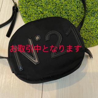 N°21 ヌメロヴェントゥーノ キッズ ブラック ショルダーバッグ