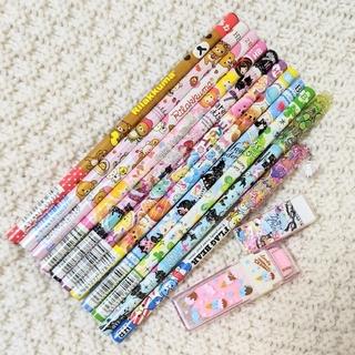 サンエックス(サンエックス)の新品 未使用 鉛筆 えんぴつ キャップ 消しゴム 文具セット 計15点セット(鉛筆)