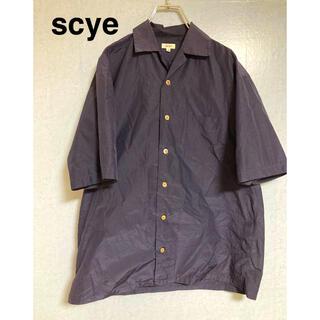 Scye - 【9/11再値下げ】scye サイ シルクオープンカラーシャツ 半袖