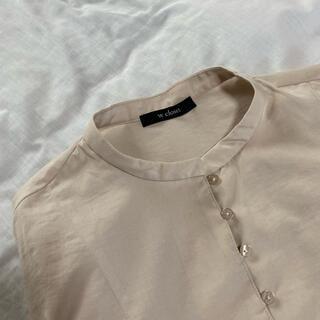 ダブルクローゼット(w closet)のw closet シアーシャツ(シャツ/ブラウス(半袖/袖なし))