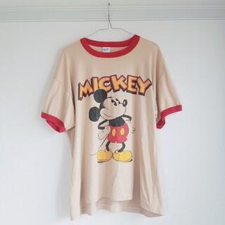 ミッキーマウス(ミッキーマウス)の90s ビンテージ ミッキー Tシャツ USA製アメリカ製 Mickey (Tシャツ/カットソー(半袖/袖なし))