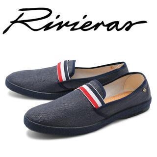 ロンハーマン(Ron Herman)の新品未使用 Rivieras リビエラ MONTECRISTI 38 NAVY(スリッポン/モカシン)