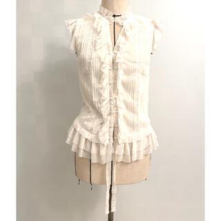 ダブルスタンダードクロージング(DOUBLE STANDARD CLOTHING)のダブスタ フリルレーシーブラウス(シャツ/ブラウス(半袖/袖なし))