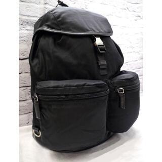 プラダ(PRADA)の美品◆PRADA プラダ V164 男女可 大容量 バックパック リュック 黒◆(バッグパック/リュック)