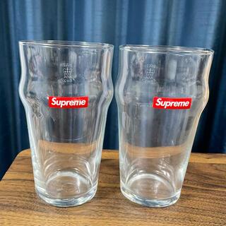 シュプリーム(Supreme)のsupreme pint glass シュプリーム グラス box beer(グラス/カップ)