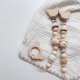 wood riri bear 🐻ホルダー(外出用品)
