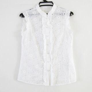 ルネ(René)のルネ 半袖シャツブラウス サイズ34 S - 白(シャツ/ブラウス(半袖/袖なし))