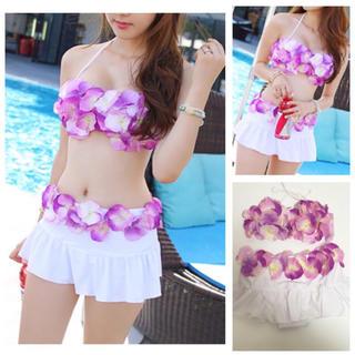 スウィートパッション(Sweet Passion)の新品☆スカート付きフラワーお花3D水着(水着)