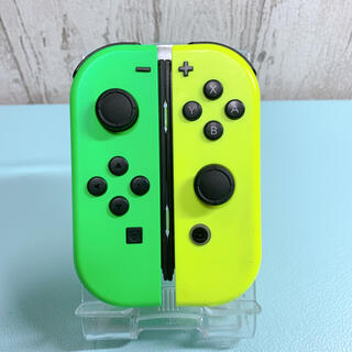 ニンテンドースイッチ(Nintendo Switch)の美品 人気カラー グリーン イエロー Switch 左右セット ジョイコン(その他)