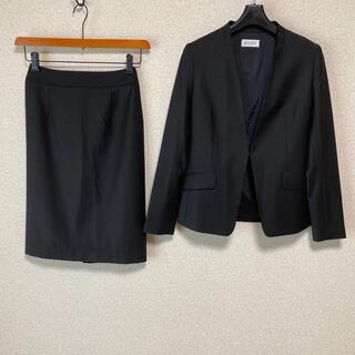 プラステ(PLST)のプラステ スーツ Vカラー XS W62 黒 面接 タイト DMW(スーツ)