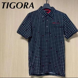 ティゴラ(TIGORA)の超美品 TIGORA ティゴラ メンズ M ポロシャツ  半袖 メッシュ(ウエア)
