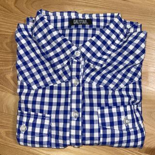 ギャルスター(GALSTAR)のブロック青チェック 襟付きシャツ M(シャツ/ブラウス(長袖/七分))