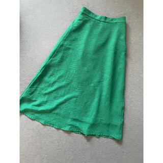 エージーバイアクアガール(AG by aquagirl)のグリーン ロングスカート AG by aquagirl(ロングスカート)