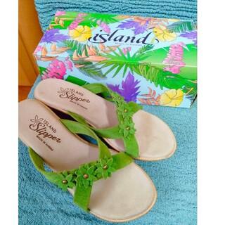 アイランドスリッパ(ISLAND SLIPPER)のアイランドスリッパ  ハワイレディース サイズ7(サンダル)
