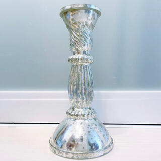 ザラホーム(ZARA HOME)の新品 ZARA HOME ザラホーム アンティーク ガラス キャンドルスタンド(置物)