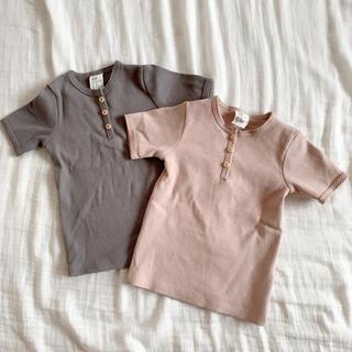 H&M リブ Tシャツ トップス 2枚セット 水通しのみ