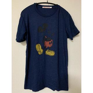 ミッキーマウス(ミッキーマウス)のユニクロ×ミッキーマウスTシャツ 紺 S(Tシャツ/カットソー(半袖/袖なし))