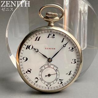 ゼニス(ZENITH)の動作良好★ゼニス アンティーク 懐中時計 手巻き シルバー オープンフェイス(その他)