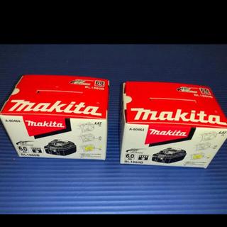 マキタ(Makita)のマキタ 純正 18V 6Ah バッテリー 2個 新品未使用 セット割‼️‼️(バッテリー/充電器)
