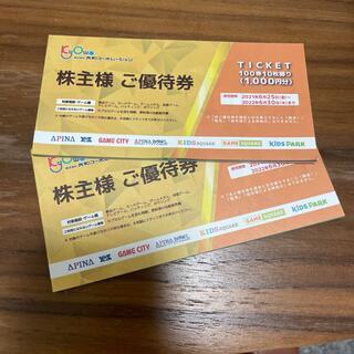 共和コーポレーション株主優待券(ボウリング場)