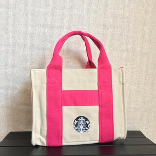 スターバックスコーヒー(Starbucks Coffee)の台湾 スタバ スターバックス サイレン トートバッグ ピンク×生成り 1点(トートバッグ)