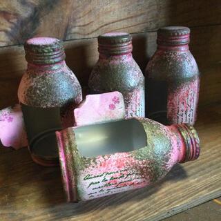 アンティークリメ缶 pink(その他)