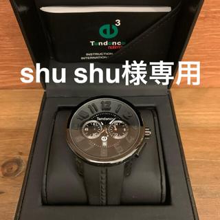 テンデンス(Tendence)の美品 テンデンス TENDENCE ブラック クロノグラフ(腕時計(アナログ))