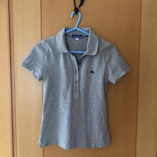 バーバリーブルーレーベル(BURBERRY BLUE LABEL)のポロシャツ バーバリー定番、グレー38(ポロシャツ)