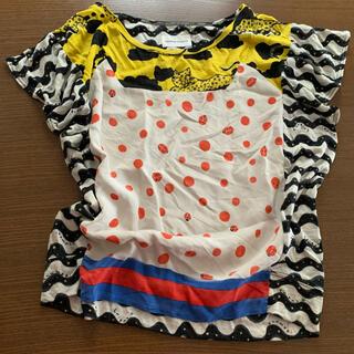 ツモリチサト(TSUMORI CHISATO)のツモリチサト もくもくレオパードドッキング 半袖カットソー(カットソー(半袖/袖なし))