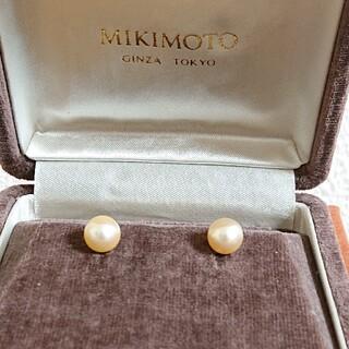 ミキモト(MIKIMOTO)のミキモト K18 ゴールデンパールピアス  MIKIMOTO 真珠  1回使用(ピアス)