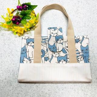 ☆レビューブックカバー☆ブルー猫&白猫ちゃん柄とレース生地柄(ブックカバー)