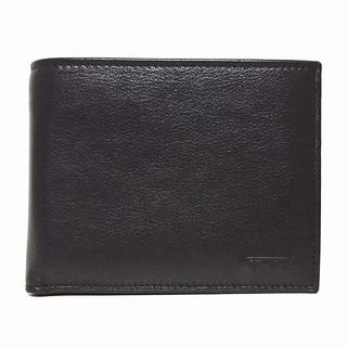 トゥミ(TUMI)のトゥミ 2つ折り財布美品  - 黒 レザー(財布)