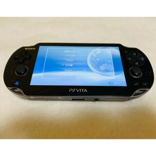 ソニー(SONY)のPlayStation Vita PCH-1000 ZA01 クリスタルブラック(家庭用ゲーム機本体)