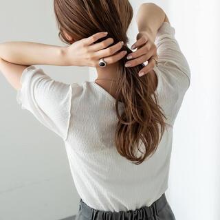 ミスティック(mystic)のmystic カットジャガードメロウTシャツ(Tシャツ(半袖/袖なし))