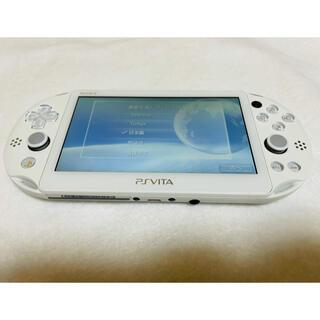 プレイステーションヴィータ(PlayStation Vita)の☆美品☆ PSVita PCH-2000 ZA12 本体 ホワイト 画面無傷(家庭用ゲーム機本体)