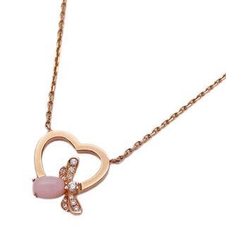 ショーメ(CHAUMET)のショーメ ネックレス アトラップ モワ ピンクオパール ダイヤモンド 750PG(ネックレス)