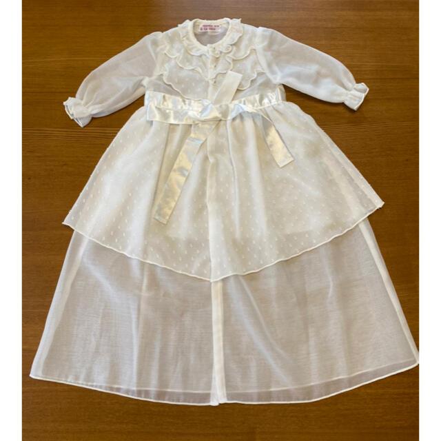 ベビードレス新生児用 キッズ/ベビー/マタニティのベビー服(~85cm)(セレモニードレス/スーツ)の商品写真
