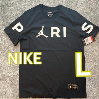 ナイキ(NIKE)の【新品未使用】NIKE PSG JORDAN ロゴ Tシャツ L(Tシャツ/カットソー(半袖/袖なし))