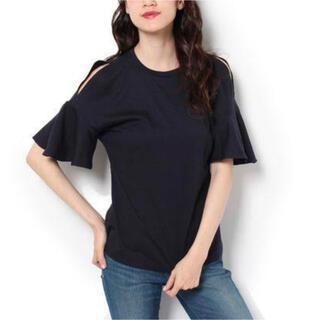 フレイアイディー(FRAY I.D)のfrayi.d Tシャツ フリルスリーブカットソー(Tシャツ(半袖/袖なし))