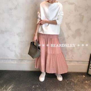 ビアズリー(BEARDSLEY)の24200円 新品 BEARDSLEY ビアズリー ティアードプリーツ スカート(ロングスカート)