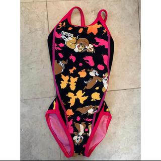 arenaのチップ&デール競泳水着120ピンク女の子可愛いディズニースポーツ(水着)