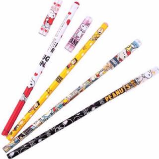 スヌーピー(SNOOPY)の送料込 スヌーピー鉛筆キャップ付 4本セット 新品(鉛筆)